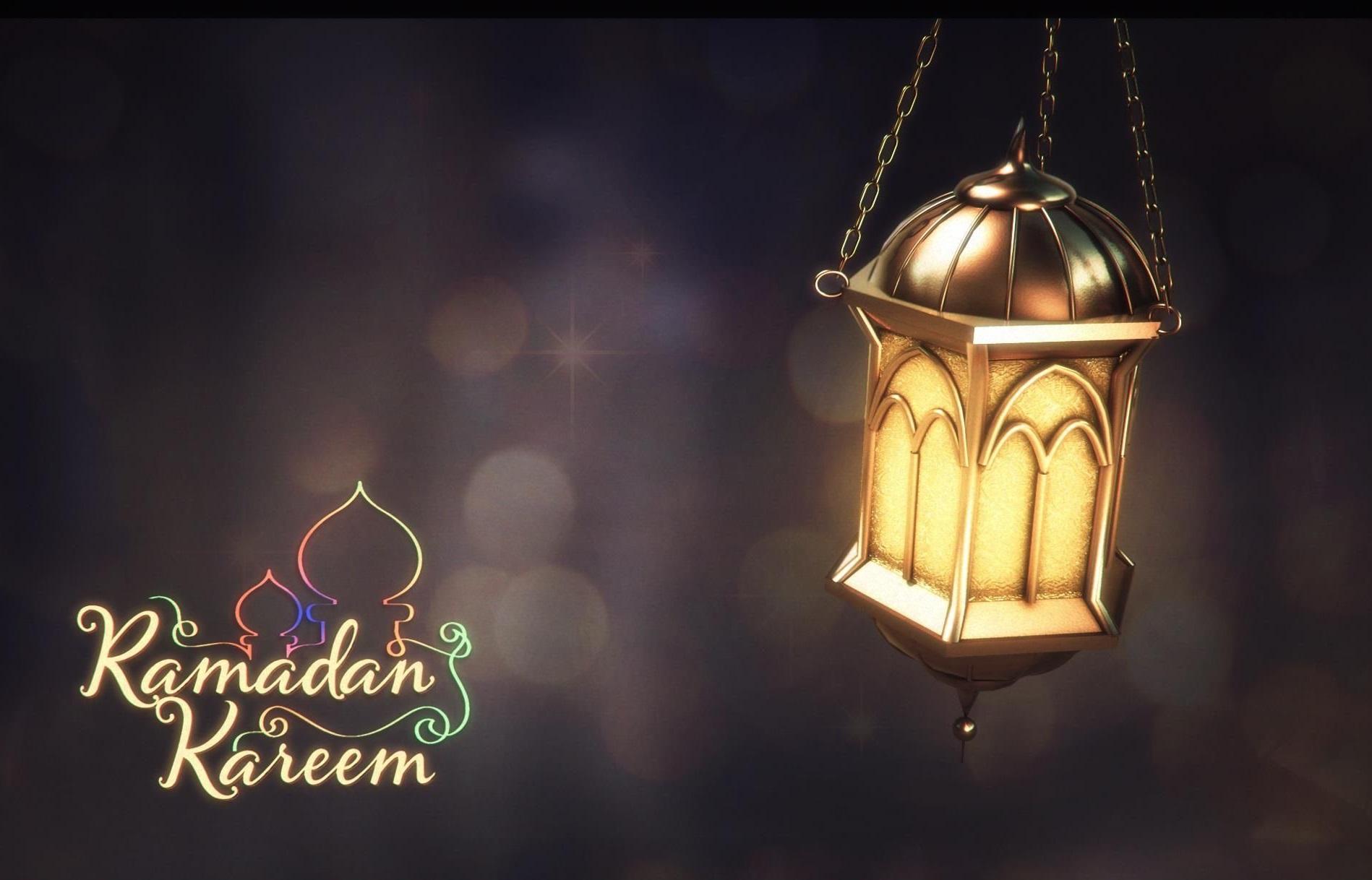 Ramadan Kareem with Arabian Lantern Islamic Greeting Cards and Wallpapers 001